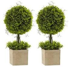 Topiaries Plants - cedar indoor outdoor artificial silk ball topiary plant 19