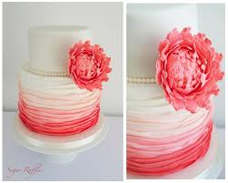 coral wedding cakes coral wedding coral ombre wedding cake 1930714 weddbook
