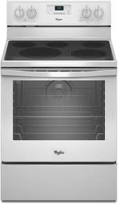 Clean Electric Cooktop Whirlpool Wfe540h0ew 30 Inch Freestanding Electric Range With