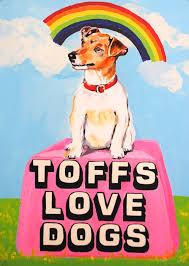 toffs love dogs print by magda archer jealous
