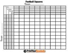 super bowl squares printable version here http