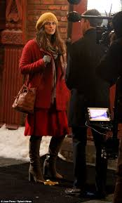 keira knightley wraps up warm as she films collateral beauty in