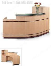 Reception Desk With Transaction Counter Reception Station Desk Lobby Furniture Oak Walnut Maple Cherry