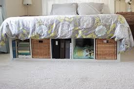 Platform Bed Skirt - diy bed platform with ikea expedit vanilla joy