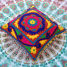 suzani cushion covers beautiful handmade woolen embroidered