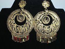 folklorico earrings mexican gold earrings ebay