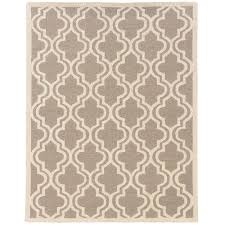 linon home decor rugs linon home decor silhouette quatrefoil grey and white 8 ft x 10 ft