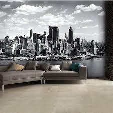 giant murals 315cm x 232cm black and white new york city skyline wall mural 315cm x 232cm