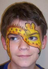 giraffe face paint zoo party and safari party fun face paint