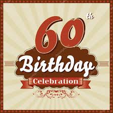 60 years birthday 60 years celebration 60th happy birthday retro style card stock
