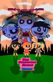 the powerpuff girls the powerpuff girls world official poster by soniclegacy1 on