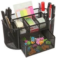 Black Wire Mesh Desk Accessories India Callas Metal Mesh Desk Organizer Black At Rs 549
