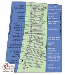 Map Of Outer Banks Outer Banks Carolina Dunes Community Outer Banks Vacation Rentals