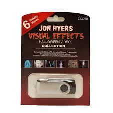 christmas window projection dvd 2 in jon hyers halloween collection usb with 6 videos 75855 the