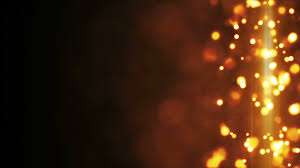 yellow glowing bokeh lights side bar loop background 4k 4096x2304