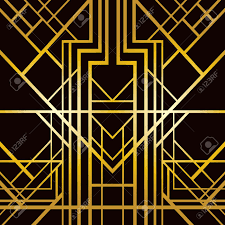 abstract geometric pattern in art deco style royalty free cliparts