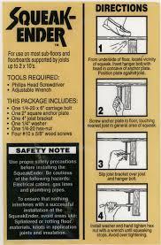 Squeaky Floor Repair Squeak Ender Ii For Easy Floor Repair Use On Sub Floor
