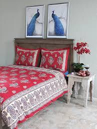 red duvet cover paisley saffron marigold
