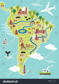 south america map map south america stock vector 174470549