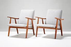 wegner swivel chair hans wegner ge 260 lounge chairs c1950s vinterior