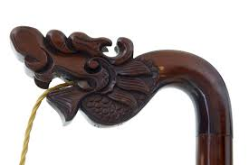 decorative carved wood floor lamp c 1910 china