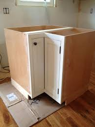 how to install hinges on corner cabinets corner cabinet with inset door and piano hinge frame