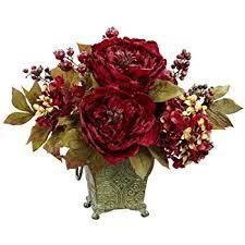 amazon com elegant silk flower arrangement with hydrangeas