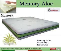 materasso matrimoniale memory foam prezzi gallery of materasso memory mod memory aloe da cm 140x200