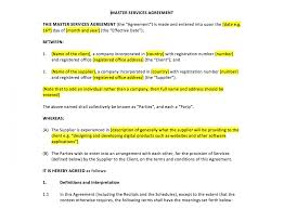 Post Marital Agreement Template Master Services Agreement Template Template Design