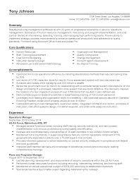 operations manager resume operations manager resume skills manufacturing vesochieuxo