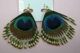 feather earrings online india wedding peacock feather earrings jewellery designs