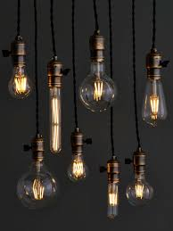 from carbon to led filament bulbs