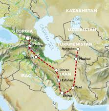 Isfahan On World Map by Tbilisi To Ashgabat 24 Days Iran Caravan