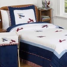 Airplane Bedding Sets by Lullaby Bedding Airplane Cotton Printed 4 Piece Comforter Set
