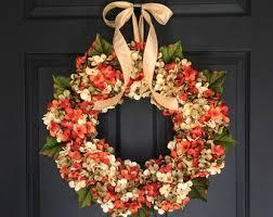 fall door wreath etsy