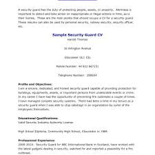 cover letter security guard resume example security guard job