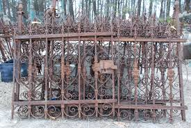 antique wrought iron fencing antiques fence architectural at