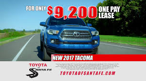 toyota tacoma prices paid one pay tacoma lease from toyota of santa fe mexico toyota
