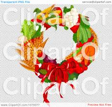 halloween wreath transparent background clipart autumn harvest decorative wreath royalty free vector