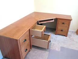 Desk With File Cabinet Corner Computer Desk With File Cabinet Small Black Corner Desk