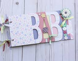 baby girl scrapbook album baby girl scrapbook album baby girl baby shower gift premade