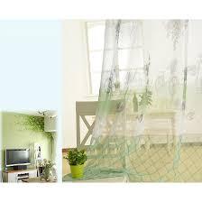 Green Sheer Curtains Discount Green Yarn Print Cool Plaid Sheer Curtains