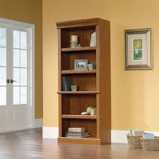 Sauder White Bookcase by Amazon Com Sauder Orchard Hills Library Carolina Oak Kitchen
