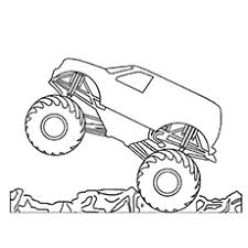 monster truck coloring pages kids funycoloring
