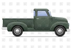 Vintage Ford Truck Commercials - old retro grey car pickup side view vector image 110793 u2013 rfclipart