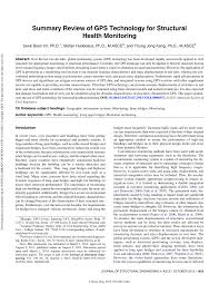 summary review of gps technology for structural health monitoring
