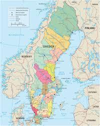 map of sweden political map sweden