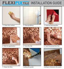 Copper Kitchen Backsplash by Amazon Com Flexipixtile Modern Aluminum Mosaic Tile Peel