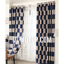 brown and royal blue noise reducing cheap modern nautical curtains