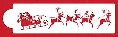 santa sleigh and reindeer santa s sleigh and reindeer by designer stencils